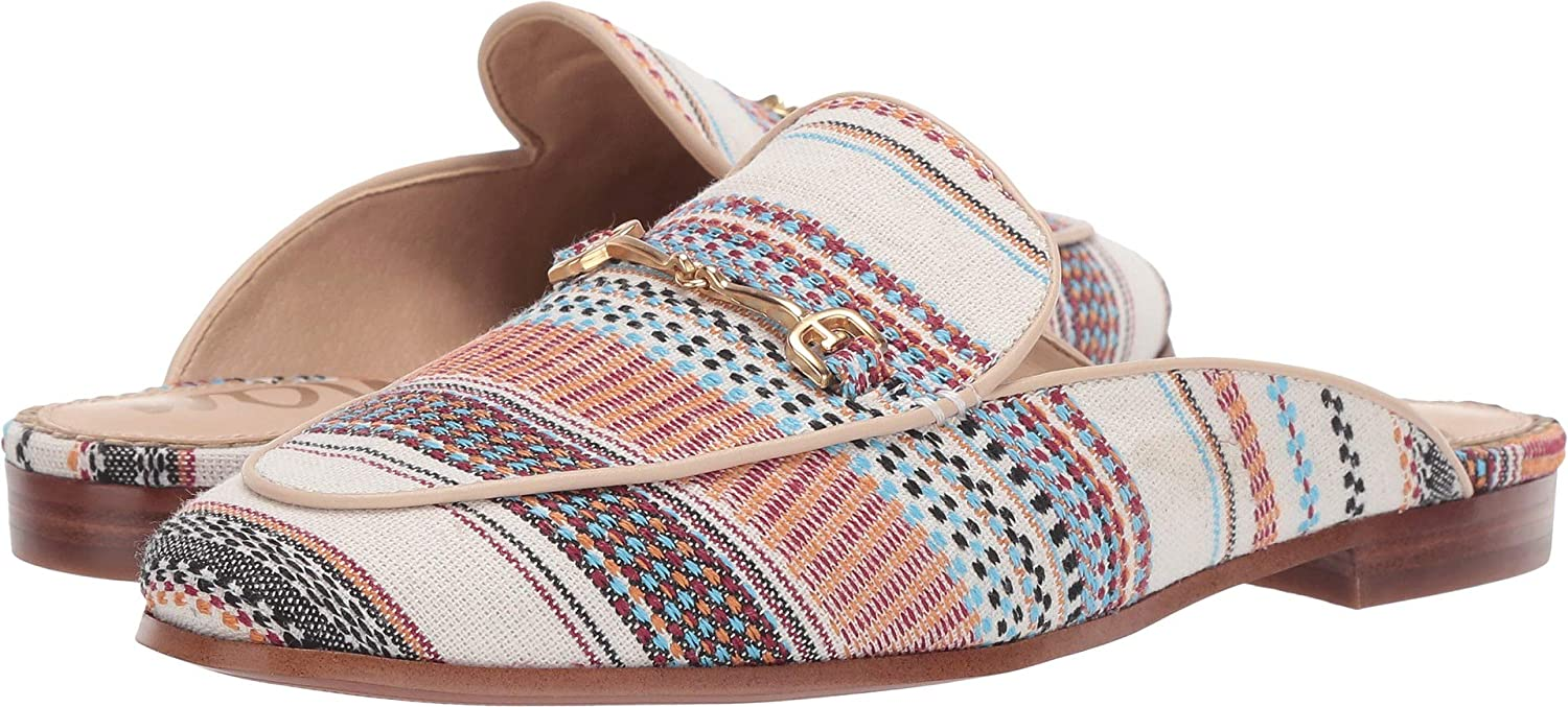 Red Multi Pacific Woven Stripe Fabric Sam Edelman Women's Linnie Mule