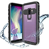 Samsung Galaxy S9 Plus Case, Waterproof Shockproof Case, Heavy Duty Clear Bumper Case with Built-in Screen Protector Desgin for Galaxy S9+ Plus (6.2 Inch,Black)
