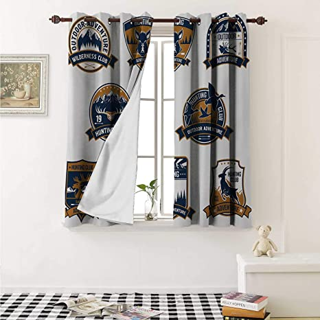 delicate decorative labels.htm amazon com hunting thermal insulating blackout curtain shield  thermal insulating blackout curtain