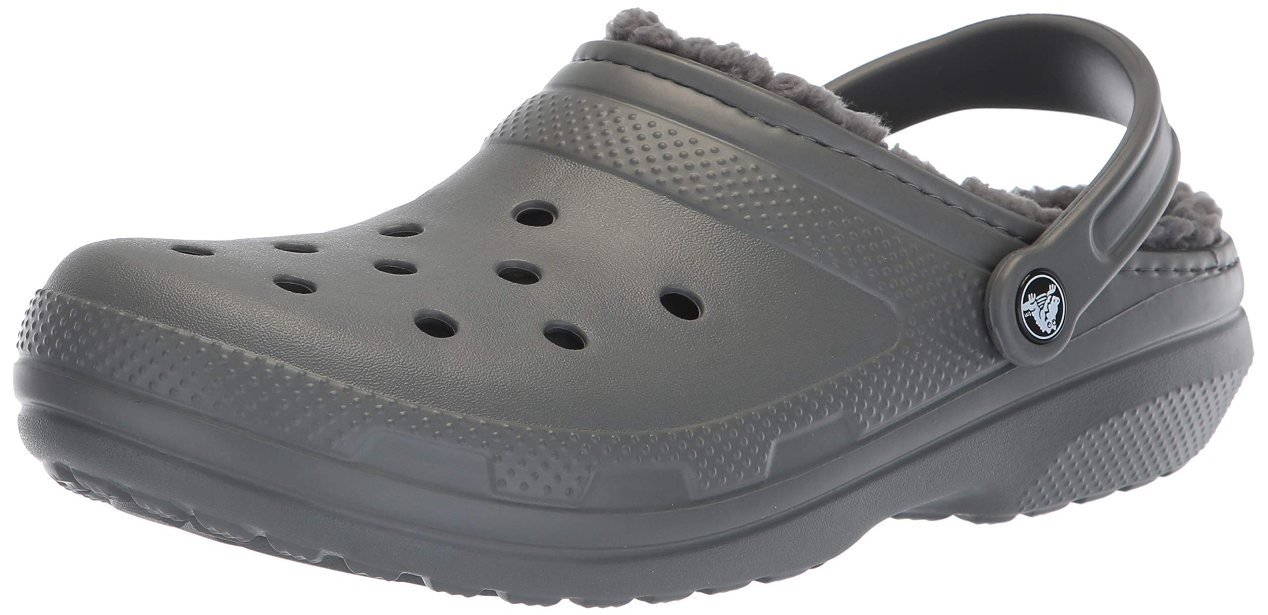 buy online 073be c1746 Crocs Classic Lined Clog, Slate Grey/Smoke, 8 US Men / 10 US Women