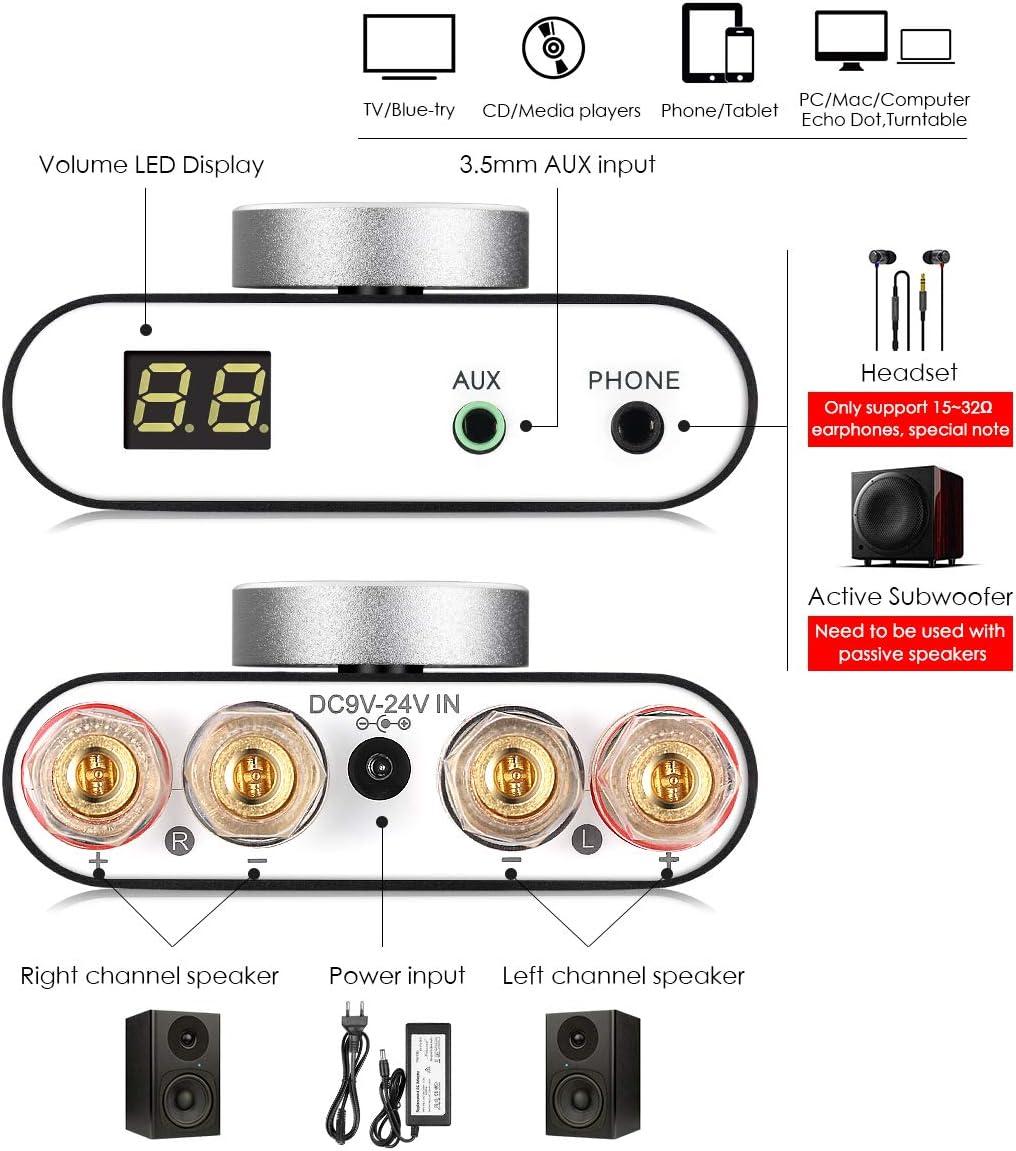 Nobsound NS-20G Mini Digital Power Amplifier Bluetooth HiFi Stereo ...