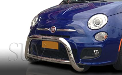 2012-2015 Fiat 500 Bull Bar Grille Guard Protector in T304 Stainless Steel
