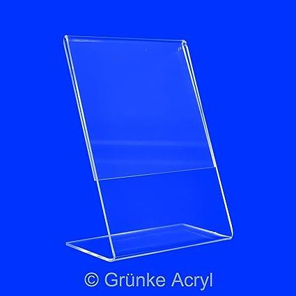 Grünke ® acrílico 1 pieza L DIN A3 vertical, L expositor, – Expositor,