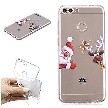 Misteem Coque Pour Huawei P Smart Créatif Noël Dessin Père