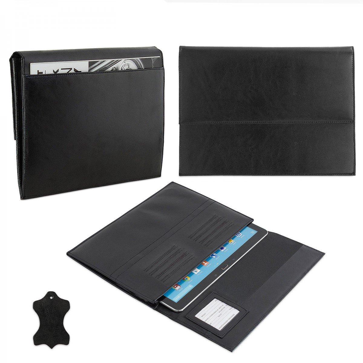 ROYALZ eFabrik – Funda de s2015 Piel para Medion Chromebook s2015 de (11.6 Pulgadas) Funda de Piel Funda Cover Carcasa Funda Sleeve Piel Negro dad8ee