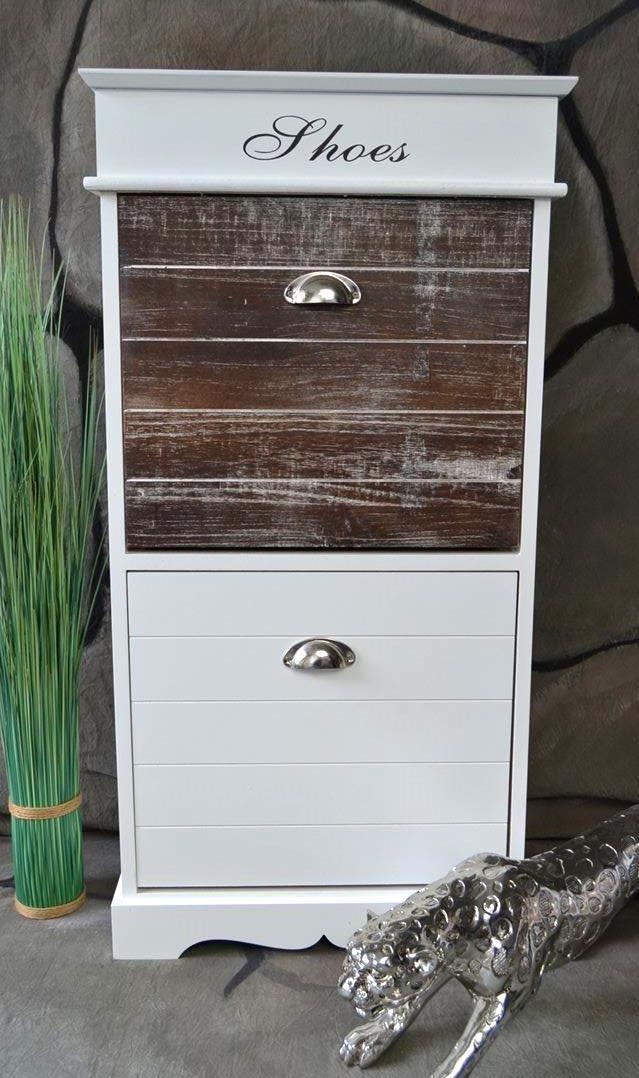 Livitat LV1055 Schuhkipper, Holz, weiß, 28 x 50 x 98 cm: Amazon.de ...