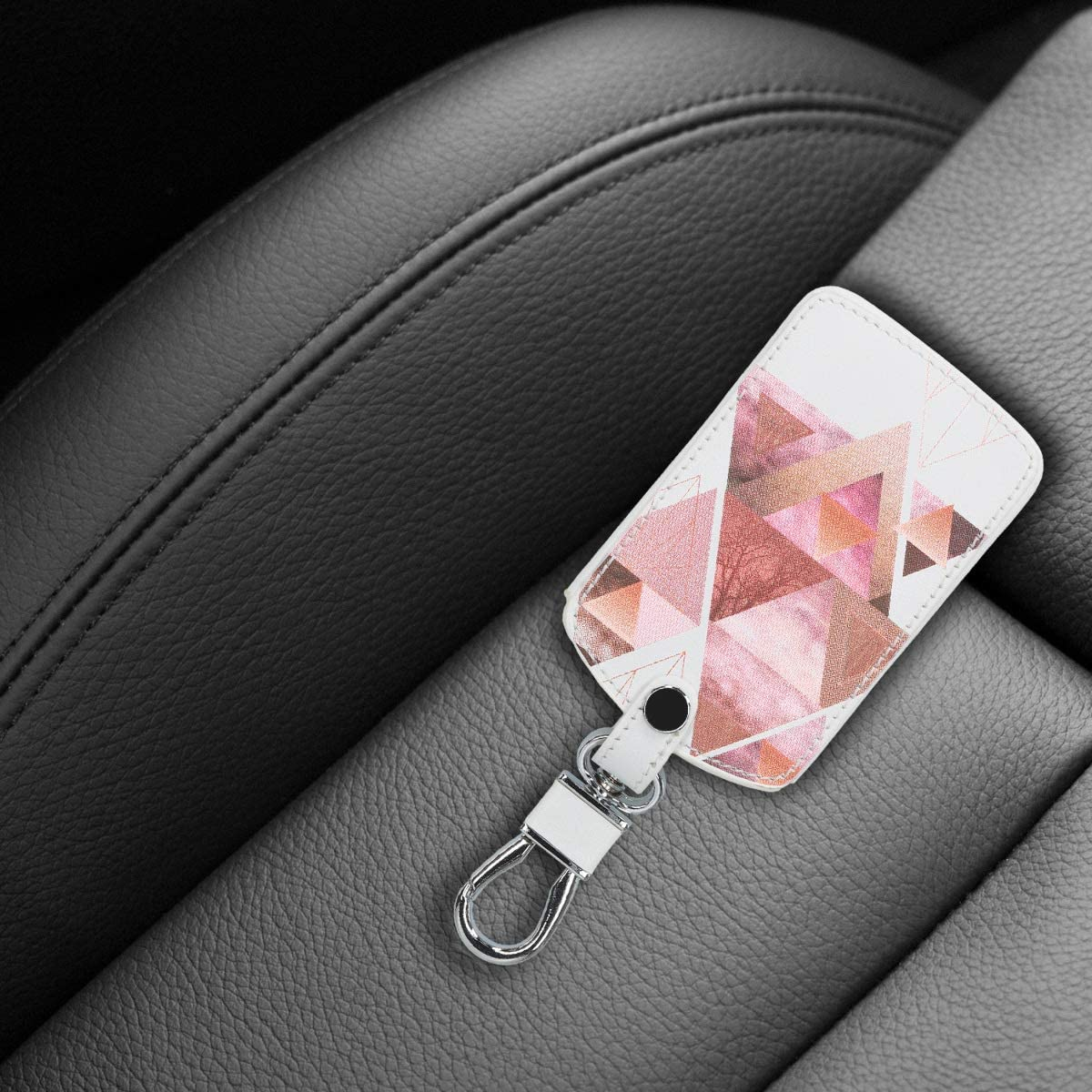 Coque de Cl/é de Voiture en Su/ède pour Clef de Voiture Renault 4-Bouton Keyless Go Uniquement kwmobile Accessoire Clef de Voiture pour Renault - Marron