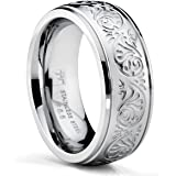Bonndorf 7MM Stainless Steel Ring With Engraved Florentine Design Sizes 4 to 13
