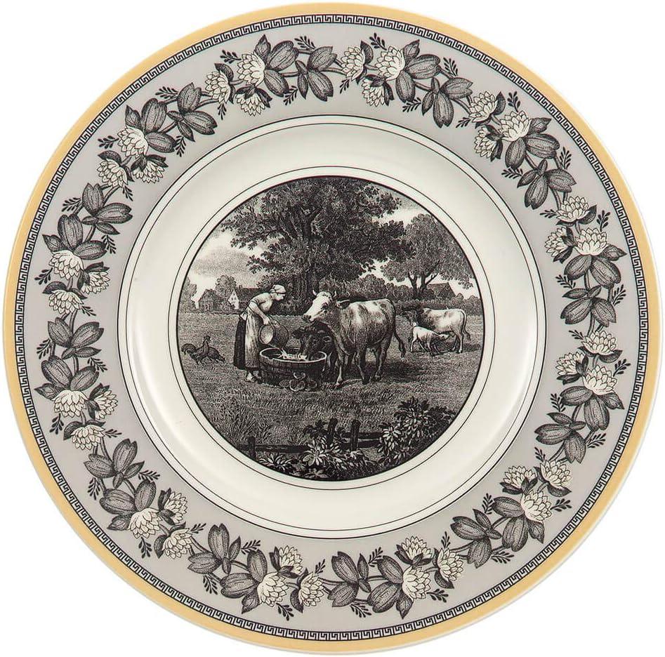 Amazon Com Villeroy Boch Audun Ferme Salad Plate 8 5 In White Gray Yellow Dinnerware Sets Salad Plates