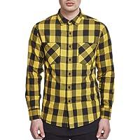 Urban Classics Herren Checked Flanell Shirt, Holzfällerhemd, Flanellhemd Langarm mit Aufgesetzten Brusttaschen