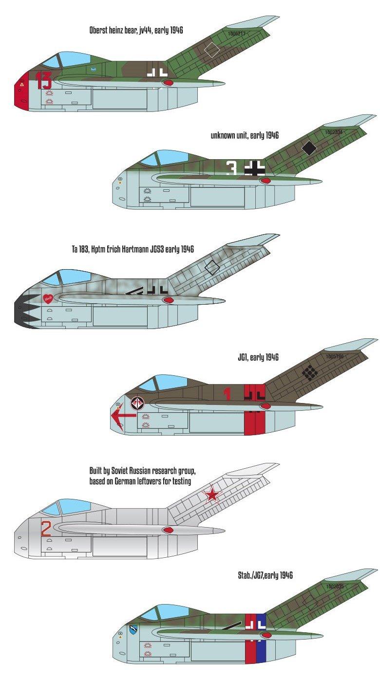 Academy Focke-Wulf Ta183 Huckebein Plastic Model Kits 1//48 Scale