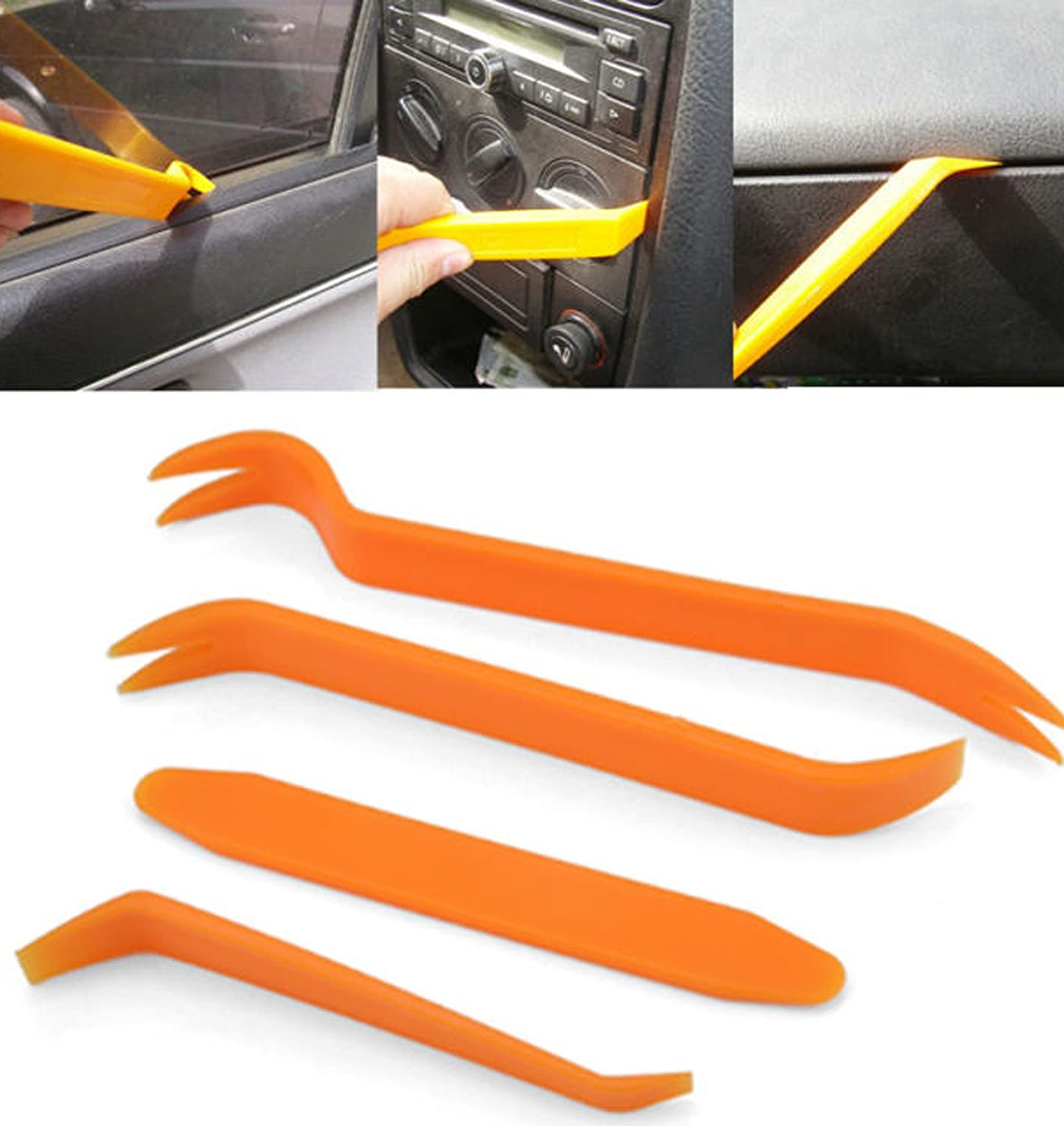 LUPO Car Door Trim Removal Tool Kit 4 PCs Pry Panel Dash Centre Console Stereo