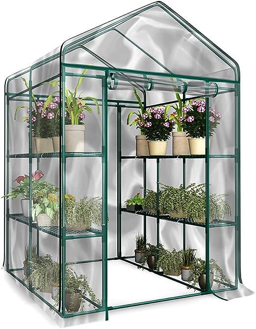 Funihut Invernadero de jardín PVC plástico Tienda Abrigo Planta jardinería Insectos pájaros protección 143 * 73 * 195 cm: Amazon.es: Jardín