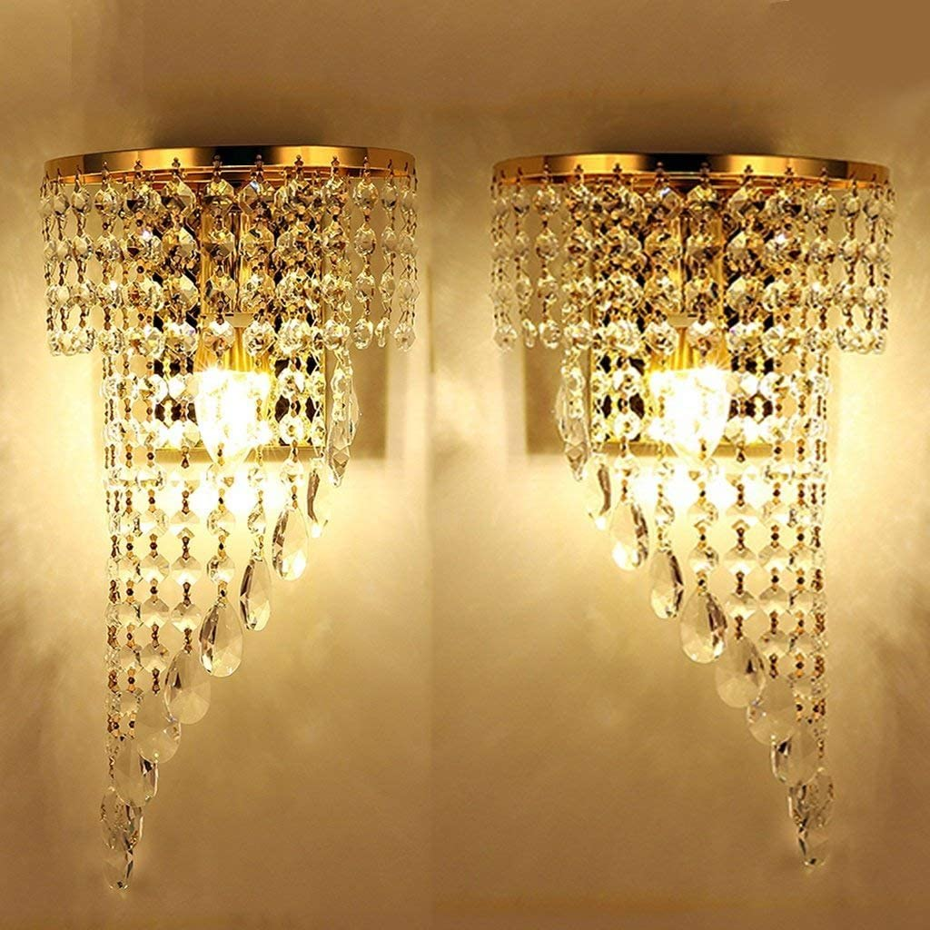 Wandleuchte Wandlampe Kristall Kristalllampe PRISMA Niedervolt Halogen 4x G4 12V