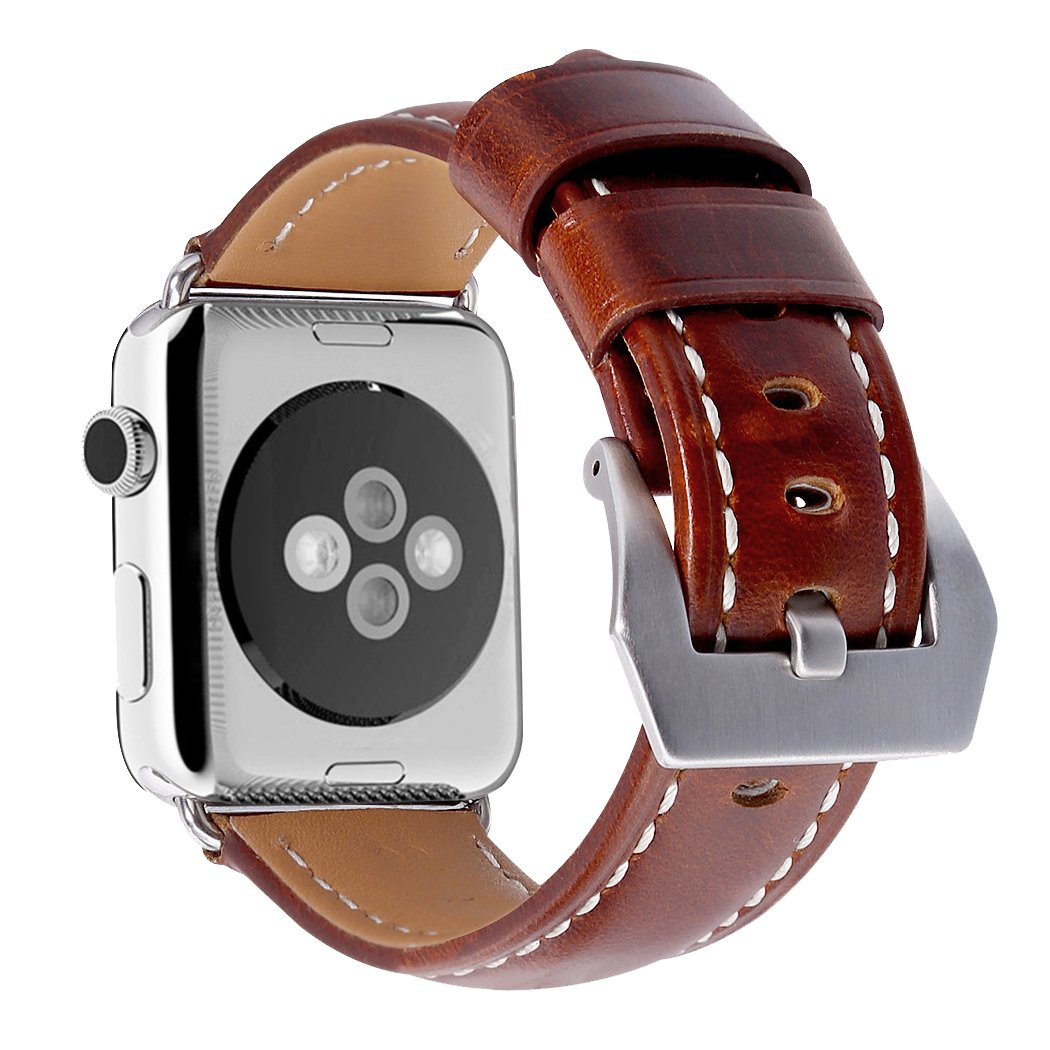 Leather Watch Band for Apple Watch 38mm Replacement Watch Strap for iwatch for Men Women