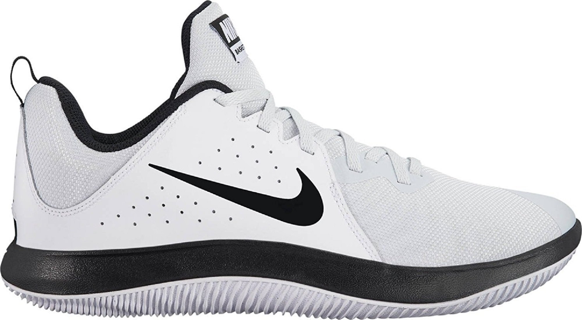 56979bb5c8ca Galleon - Nike Men s Fly.by Low Basketball Shoe White Black-Pure Platinum 9