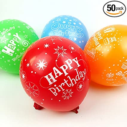 Amazon.com: 50 globos de látex de 11.8 in para fiesta de ...