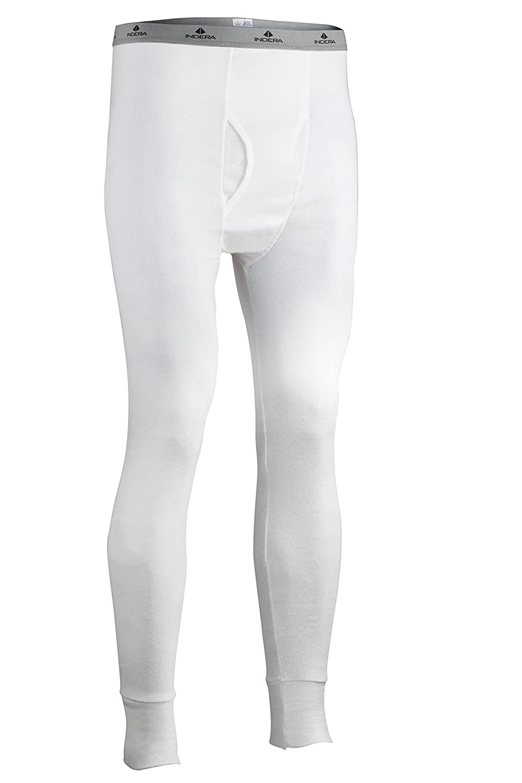 Indera Men's Cotton 1 x 1 Rib Pant ColdPruf Baselayer