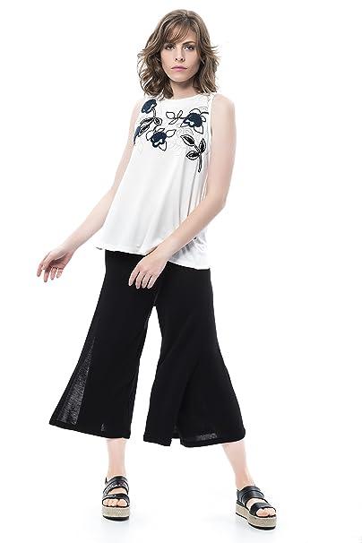 Mamatayoe Balandra, Camiseta para Mujer, Blanco (White), Small (Tamaño del Fabricante:S)