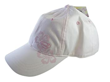 DC Comics White and Pink Hawaiian Flowers Youth Supergirl Hat - Supergirl  Cap 430a5aeed6bb