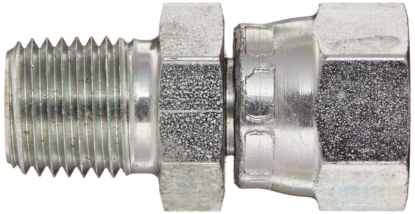 Eaton Aeroquip 2045-4-4S Steel Pipe Fitting 1//4 NPSM Female x 1//4 NPT Male Adapter