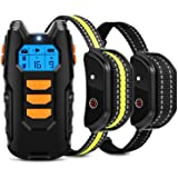 Flittor Dog Training Collar, Shock Collar for Dogs with Remote, 2 Receiver Rechargeable Dog Shock Collar, 3 Modes Beep…