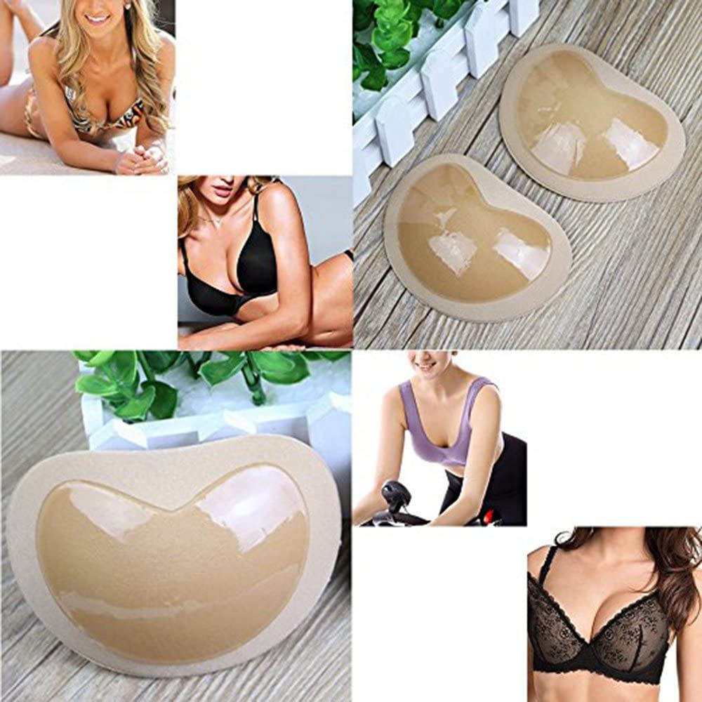 colorful TopBine Bra Inserts Self-Adhesive Bra Pads Inserts Removable Silicone Breast Lift Sticky Cups