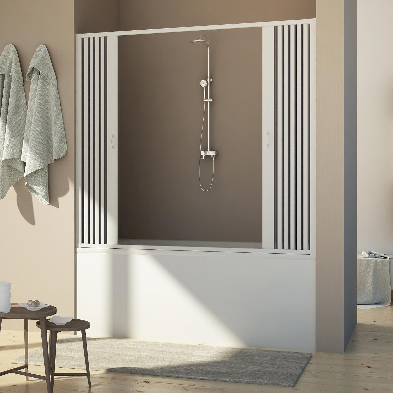 Porta Doccia Sopravasca 140 CM H150 PVC MOD Delfi Centrale