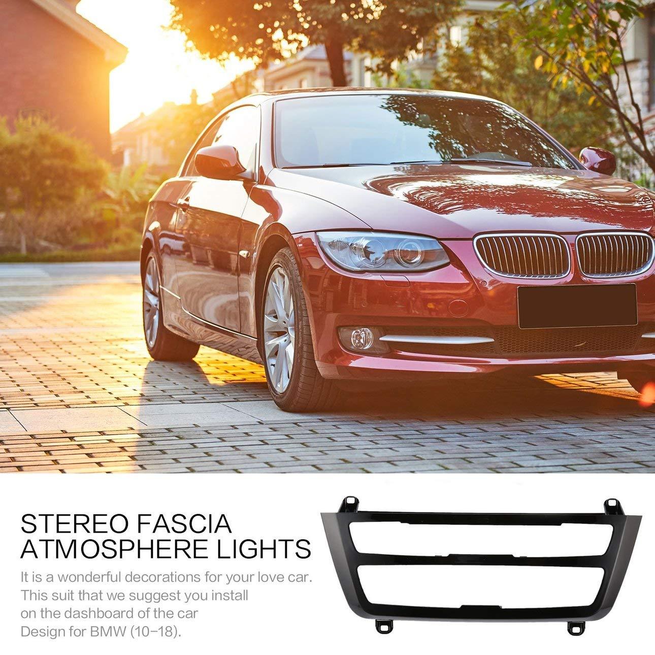 Ballylelly Luci Atmosfera Costruite su Car Stereo Fascia per BMW Serie 3 F30 F35 Fascia Colore variabile Stereo Atmosfera Luci