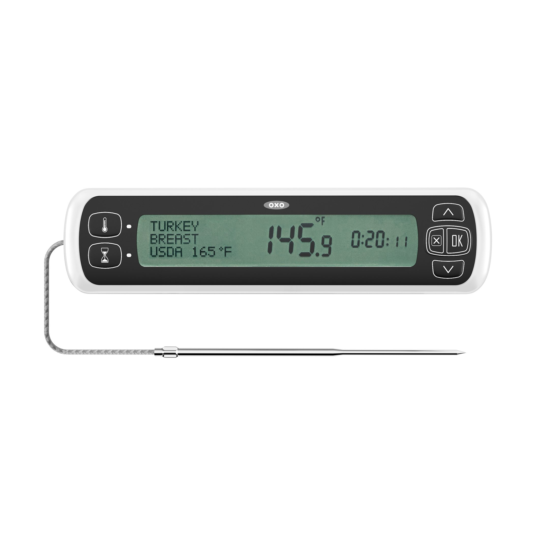OXO Good Grips Chef's Precision Digital Leave-In Thermometer, Stainless Steel by OXO