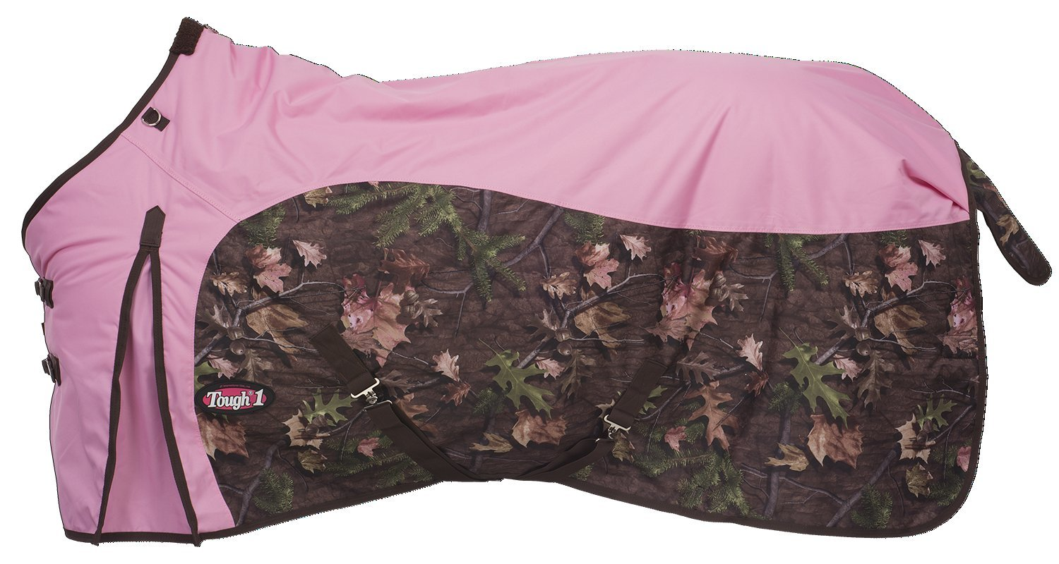 Tough 1 Timber 600D Waterproof Poly Turnout Blanket, Pink, 72''