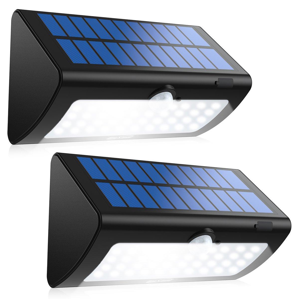 Housmile Solar Lights, 38 LED Super Bright Garden Lights Motion Sensor Outdoor Wireless Waterproof Security Lights for Front Door, Patio, Deck, Yard, Garden, 2 Pack