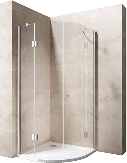 80 x 80 x 190 cm Luxus – Mampara de ducha ravenna02 K, 8 mm de ...