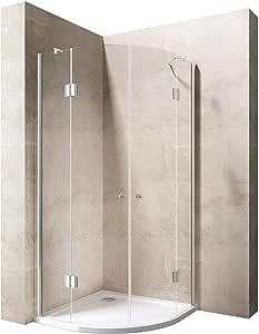 80 x 80 x 190 cm Luxus – Mampara de ducha ravenna02 K, 8 mm de cristal de seguridad de vidrio transparente cristal, – Mampara de ducha Ducha Cuarto Círculo ducha, incluye