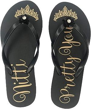 NITTI Women's Sandals   Ultra Soft Comfortable Flip Flops for Women   Fashion Design Rubber Slide Sandals