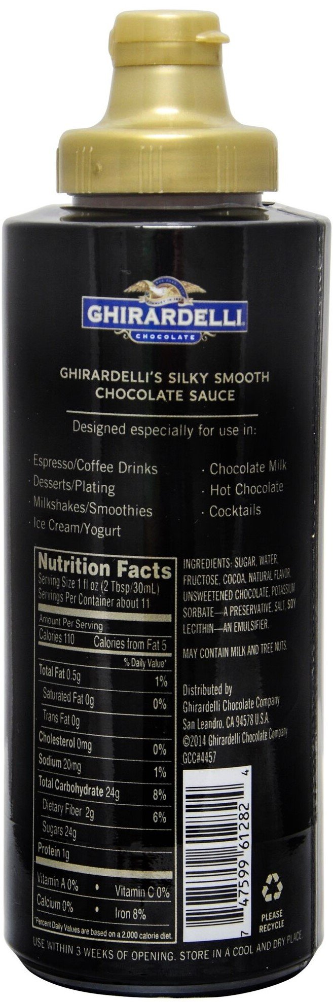 Ghirardelli - 16 Ounce Black Label, 16 Ounce Vanilla, 17 Ounce Caramel, 17 Ounce Sea Salt Caramel Flavored Sauce (Set of 4) - with Limited Edition Measuring Spoon by Ghirardelli (Image #4)