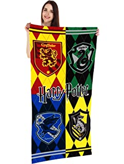 Monogram Harry Potter Hogwarts Houses Crest, 28x58 Beach Towel