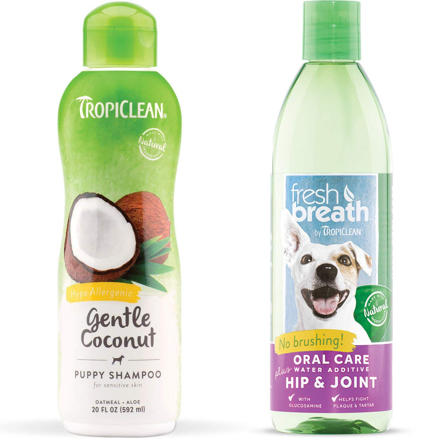 TropiClean Hypo Allergenic Puppy Shampoo and Fresh Breath Oral Care Water Additive