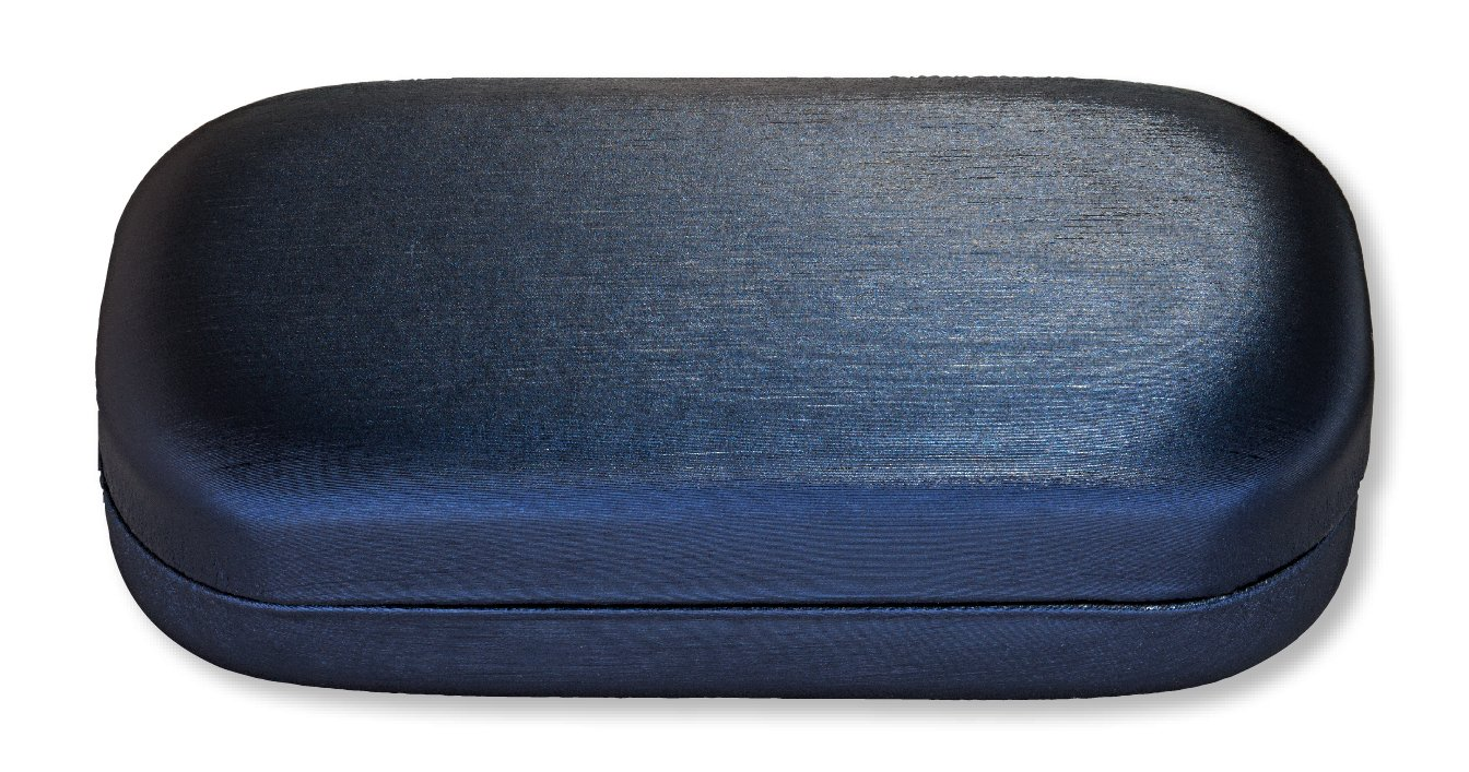 Large Sunglasses Case For Men And Women, Hard Shell Eyeglass Case, Satiny Navy by LBI