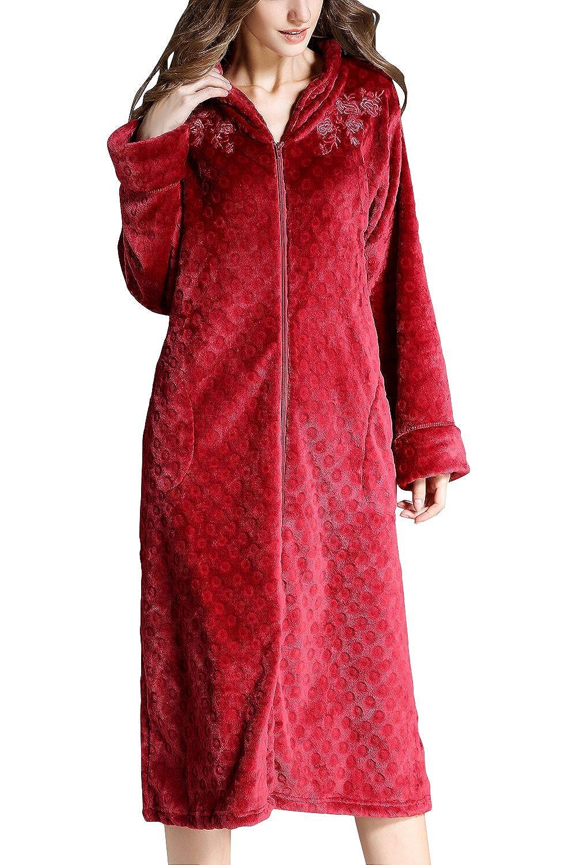 Dolamen Men's Women's Dressing Gowns Bathrobe Fleece Nightwear Pyjamas