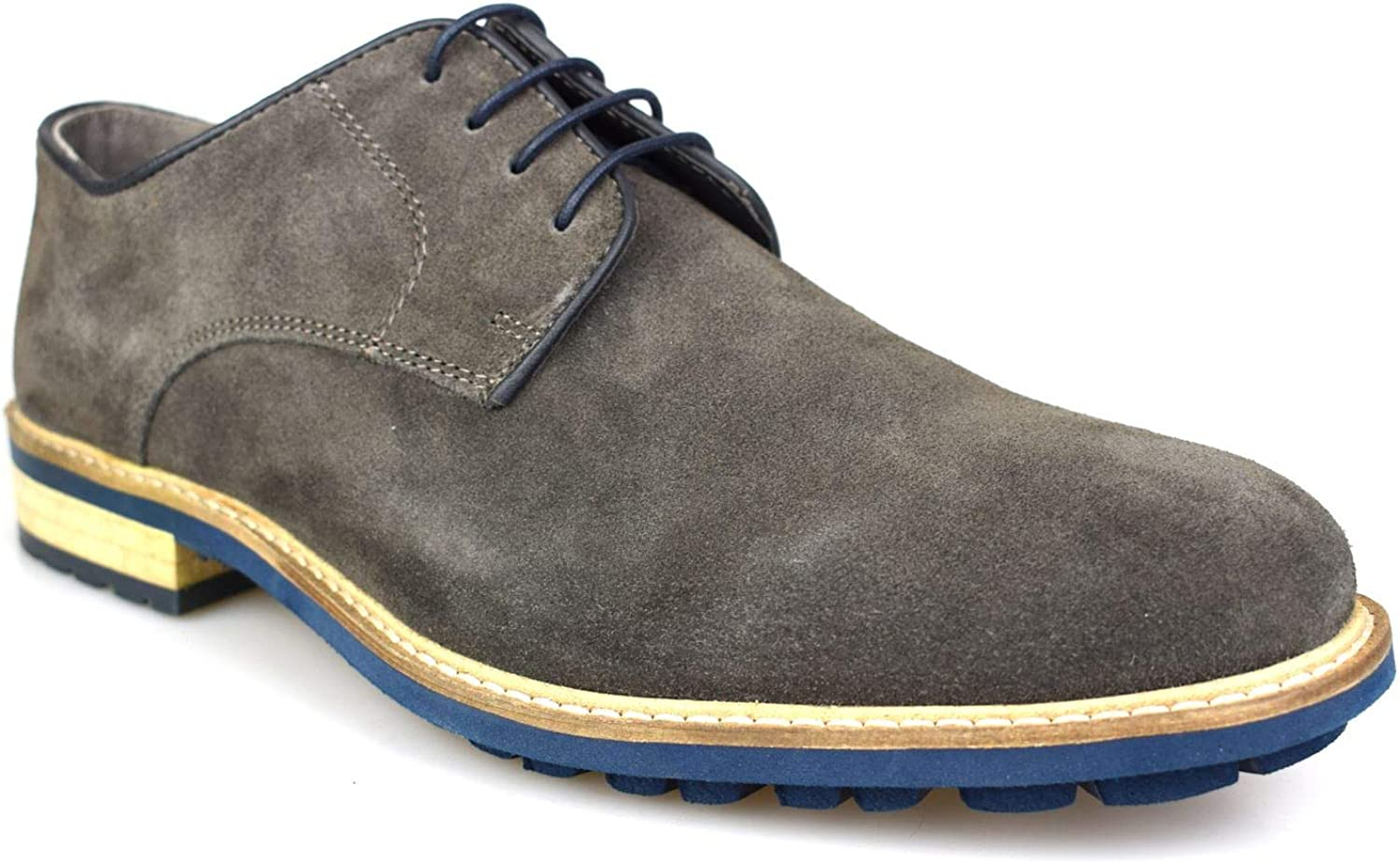 Comparable server Grand  Silver Street Stanyon Grey/Blue Suede Mens Formal Shoes: Amazon.co.uk: Shoes  & Bags