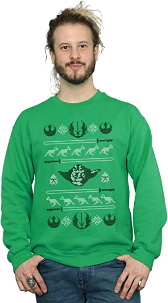 Star Wars Hombre Yoda Christmas Tauntauns Camisa De Entrenamiento: Amazon.es: Ropa y accesorios
