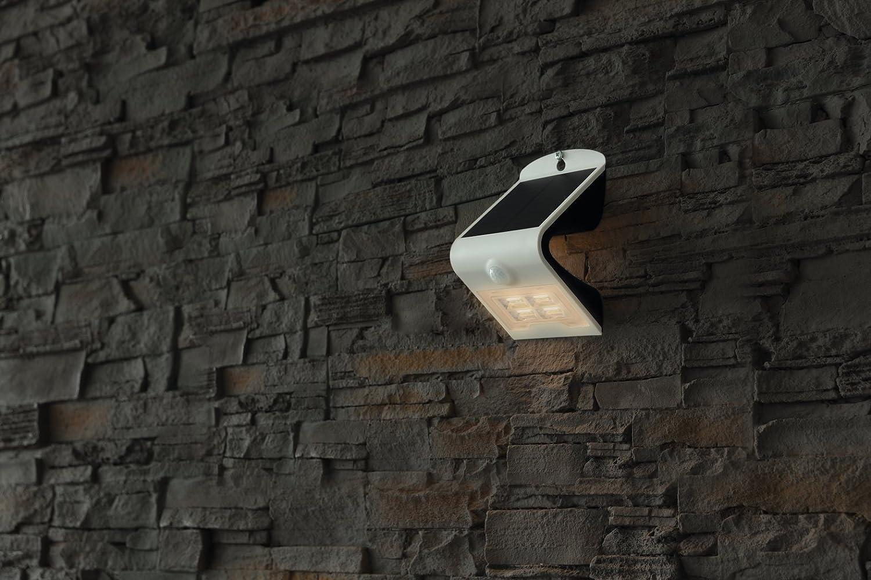 Heitronic - Lámpara de pared LED Solar Bright - Foco de pared con sensor de movimiento, lámpara solar: Amazon.es: Electrónica