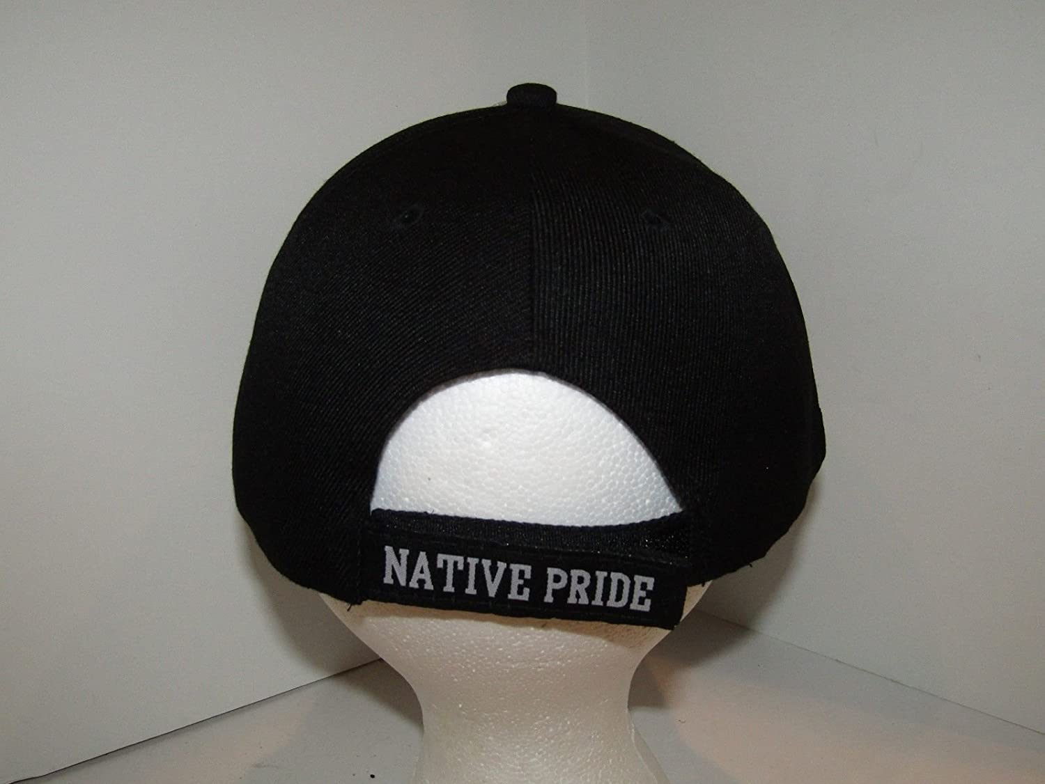 Native American Feather and Beads Native Pride Indian Shadow Black Ball Cap Hat