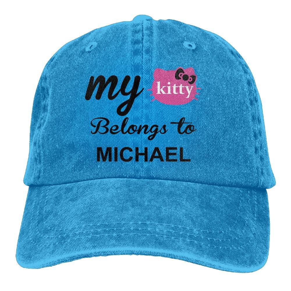 Trableade My Kitty Belongs To Michael Unisex Sport Adjustable Structured Baseball Cowboy Hat
