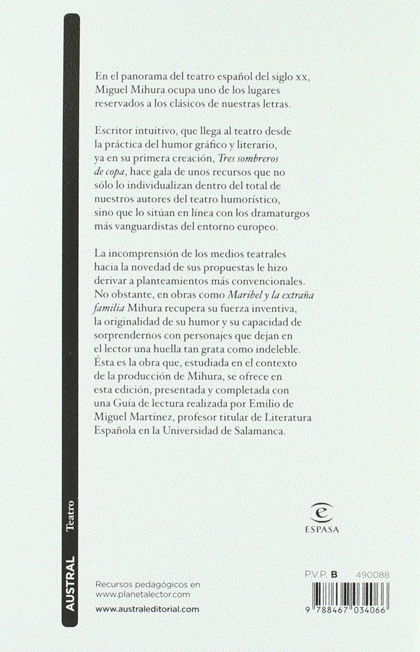 Maribel y la extraña familia (Teatro): Amazon.es: Miguel Mihura: Libros