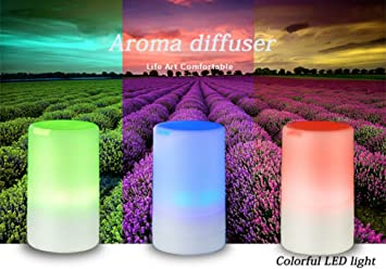Mini USB Charging 100ml Aromatherapy Machine Essential Oil Diffuser Ultrasonic Vibration Atomization Humidifier with Color Changing Gradient Light and