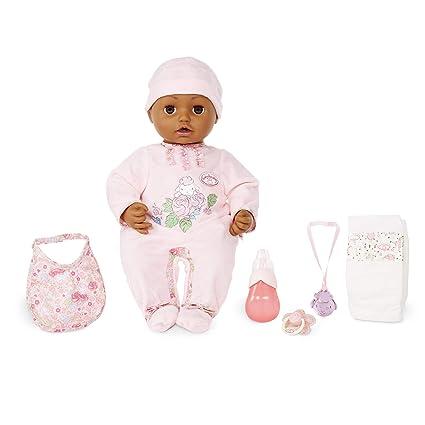 Amazon.com: Baby Annabell con ojos marrones muñeca de bebé ...