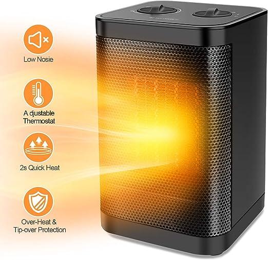Amazon Com Ceramic Portable Space Heater With Adjustable