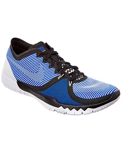 cheap for discount ecd95 b3eaf Nike Free Trainer 3. 0 V4 Black White Blue 749361-014 (Size  8)  Buy Online  at Low Prices in India - Amazon.in